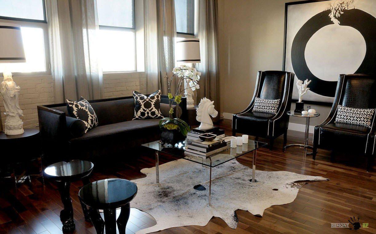 Black Furniture In A Modern Interior